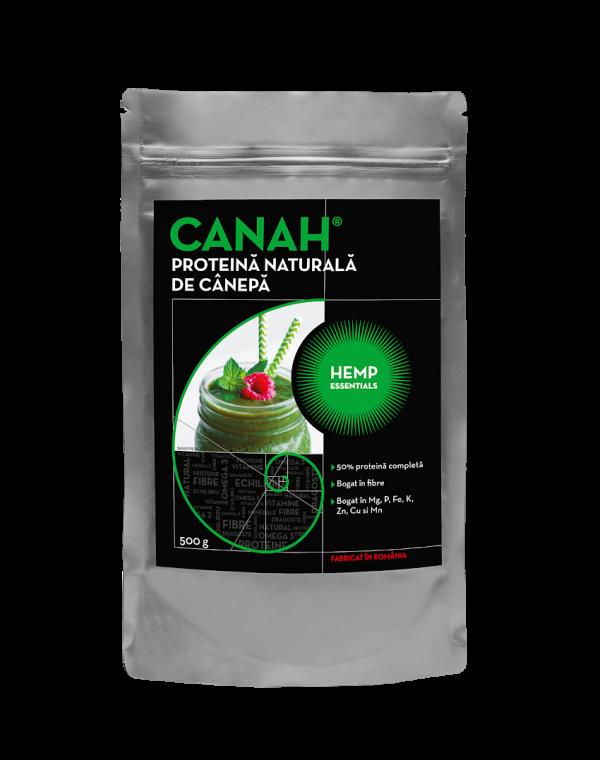 Pudra proteica de canepa, 500g, Canah drmax.ro