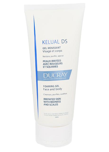 Gel spumant pentru pielea iritata cu roseata si scuame Kelual DS, 200 ml, Ducray