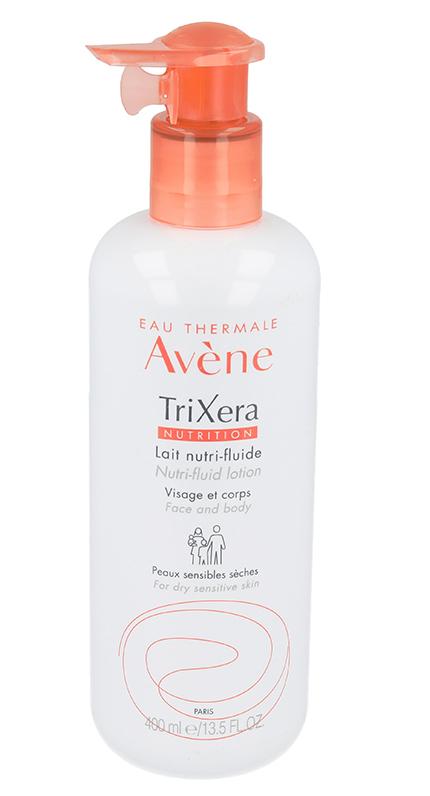 Lapte hidratant pentru piele sensibila si uscata TriXera Nutrition, 400 ml, Avene drmax.ro