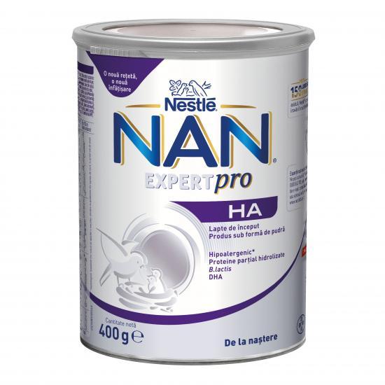 Nan HA Formula lapte praf premium hipoalergenic +0 luni, 400g, Nestle drmax.ro