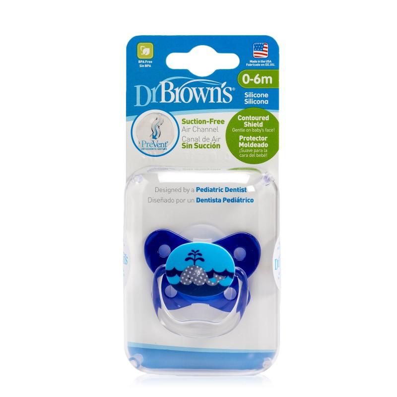 Suzeta design fluture cu capac Nivel 1 albastru, 1 bucata, Dr. Brown's drmax.ro