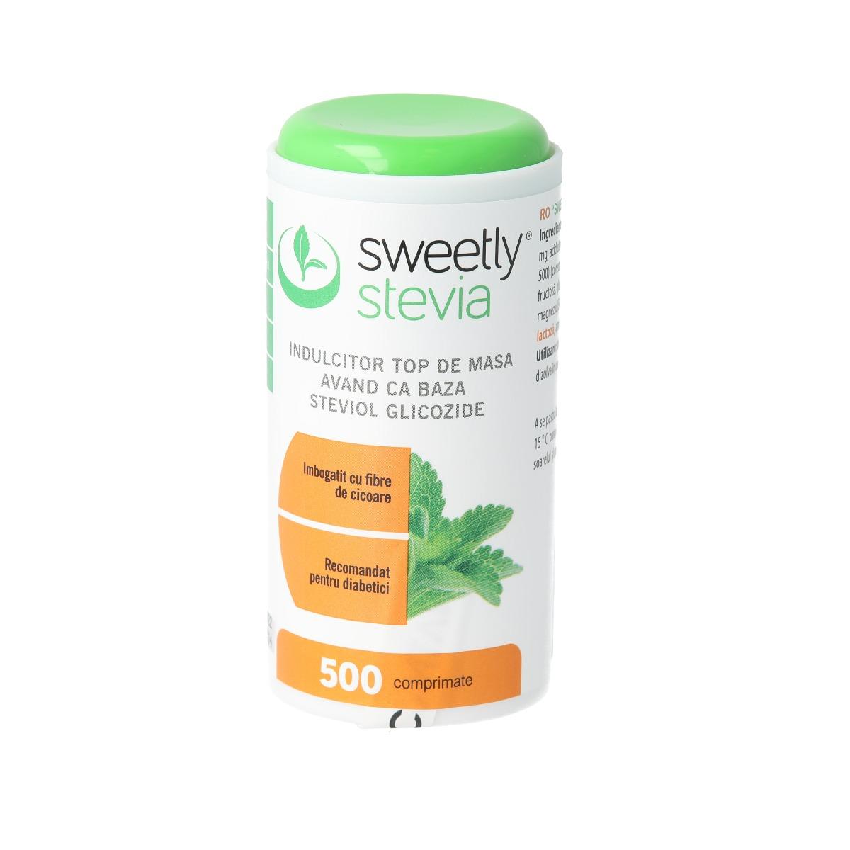 Indulcitor cu extract de stevia, 500 tablete, Sweetly la preț mic imagine