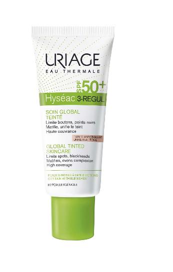 Crema colorata anti-acnee SPF50+ Hyseac 3-Regul, 40ml, Uriage imagine produs 2021