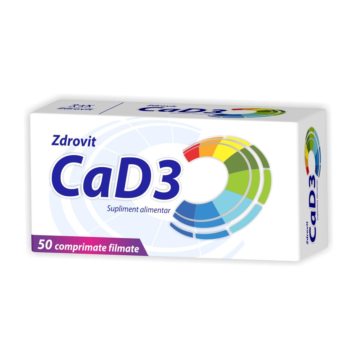 Calciu + D3, 50 comprimate, Zdrovit imagine produs 2021