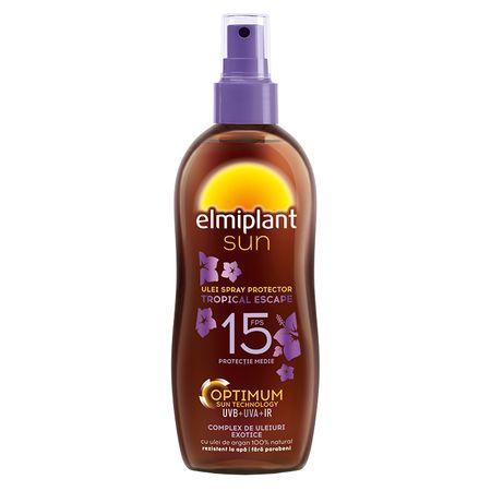 Ulei spray bronzare rapida SPF 15 Tropical Escape Sun, 150 ml, Elmiplant imagine produs 2021