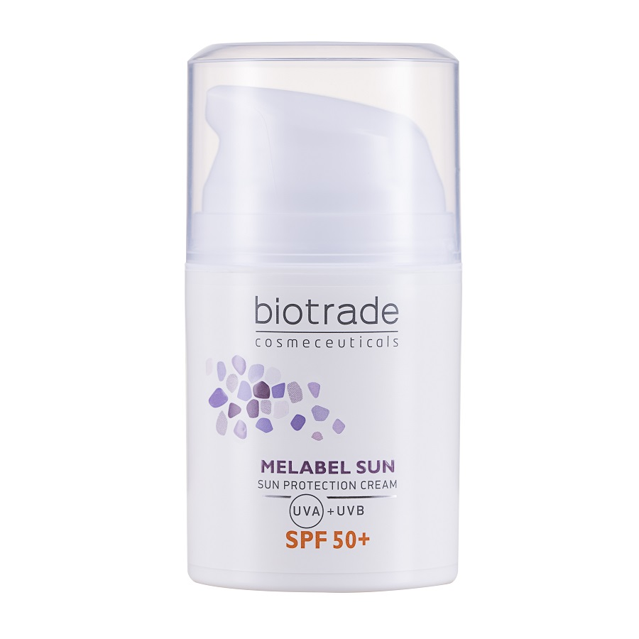 Crema de fata protectie solara SPF 50+ Melabel Sun, 50ml, Biotrade drmax.ro