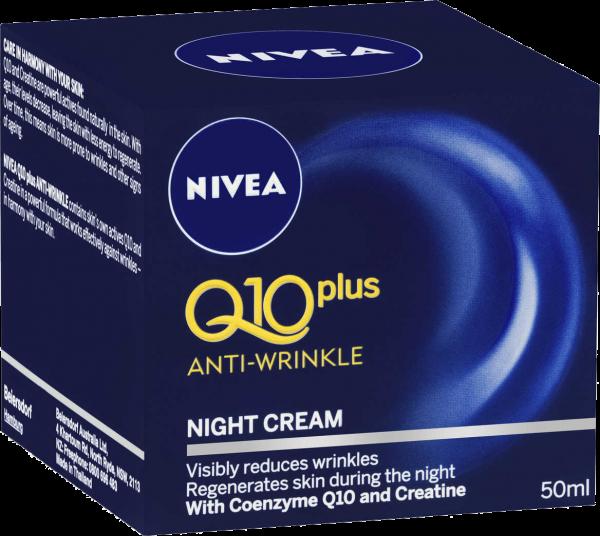 Crema de noapte antirid Q10 plus, 50ml, Nivea imagine produs 2021