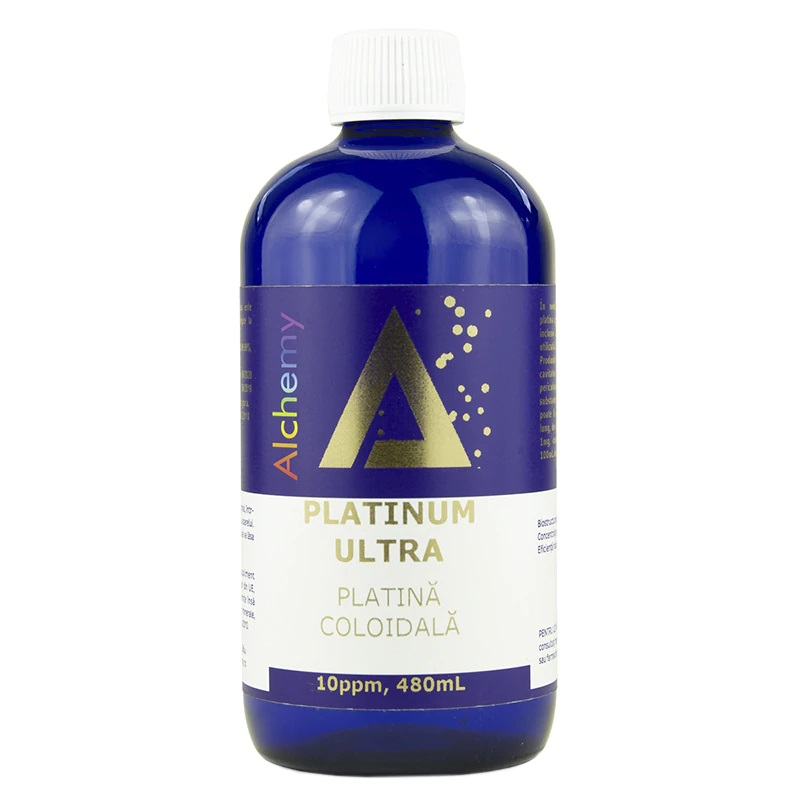 Platina coloidala Platinum Ultra Alchemy 10 ppm, 480ml, Aghoras drmax.ro