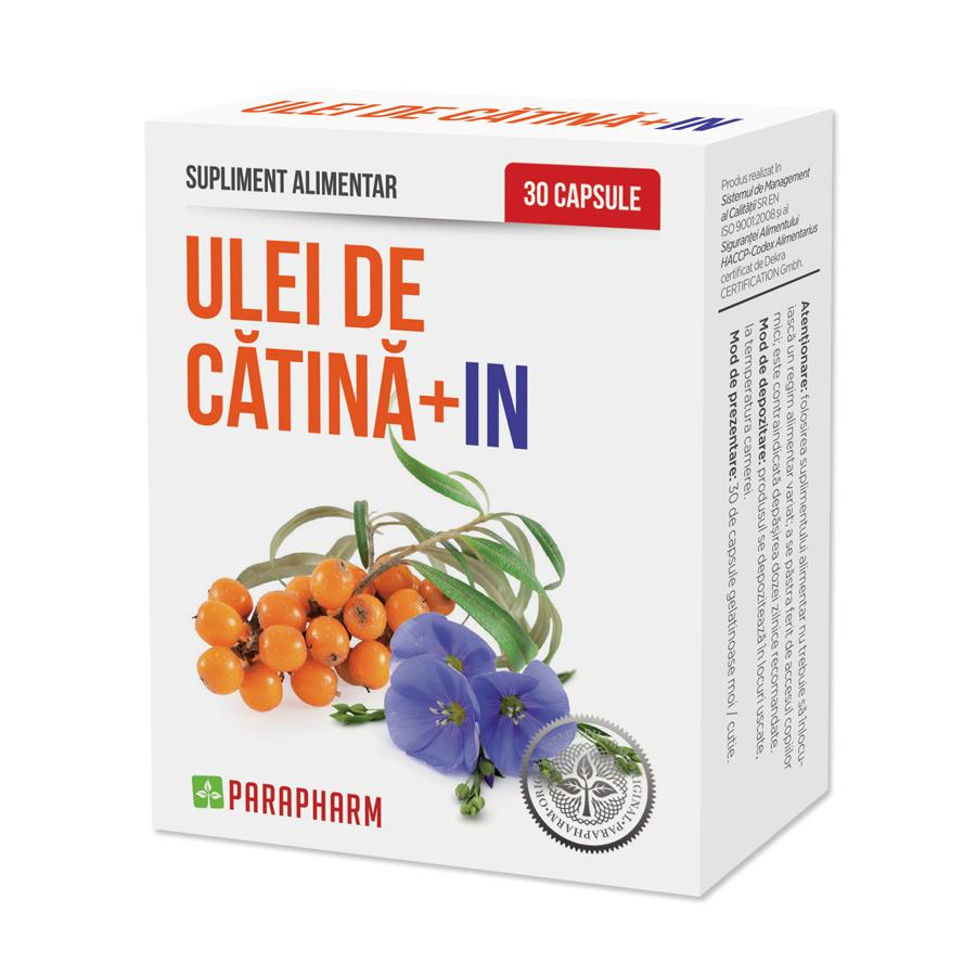 Ulei de Catina + In, 30 capsule, Parapharm la preț mic imagine