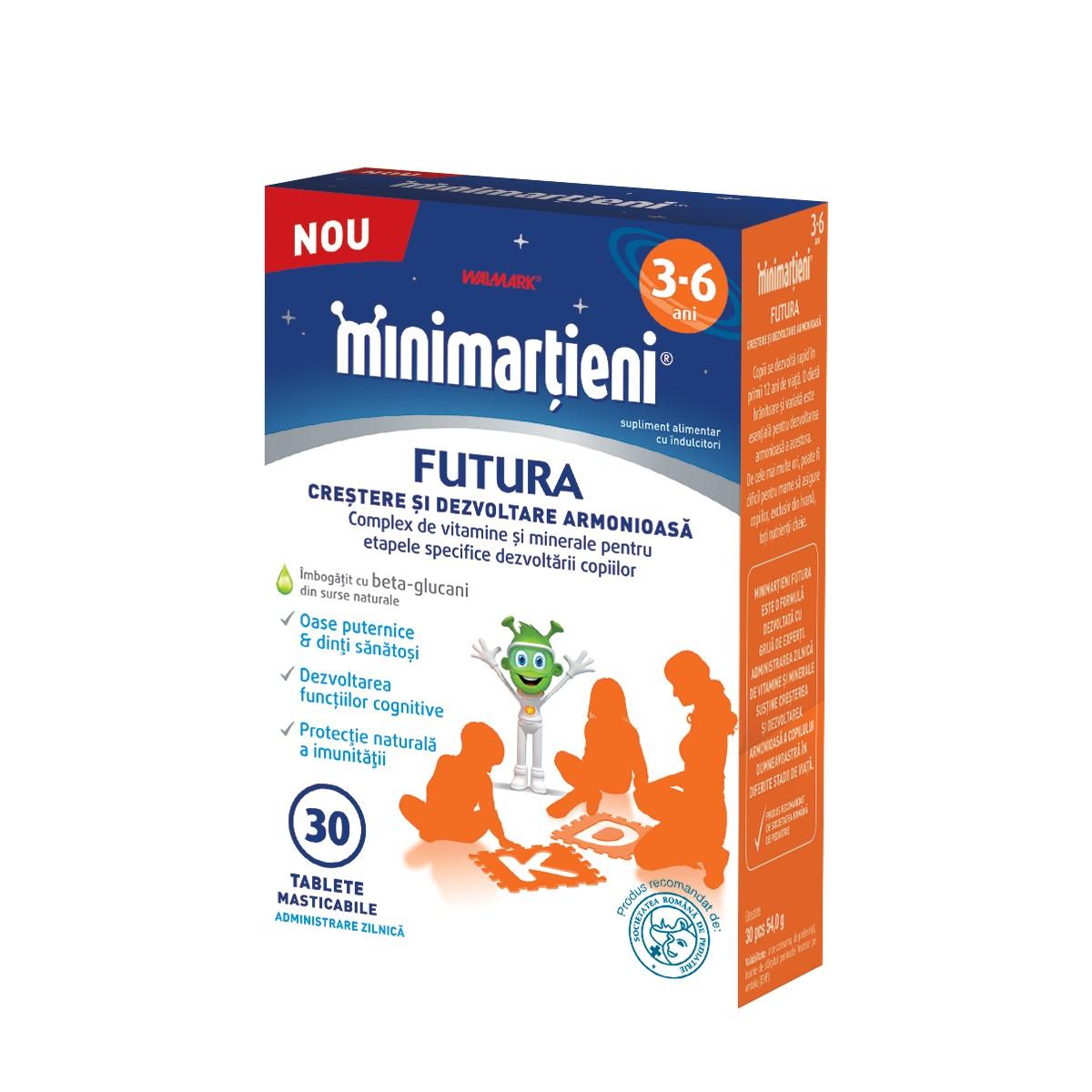 Minimartieni Futura crestere si dezvoltare 3-6 ani, 30 tablete, Walmark la preț mic imagine