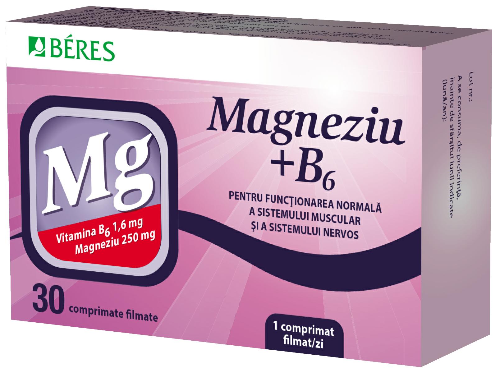 Magneziu + B6, 30 comprimate, Beres drmax poza