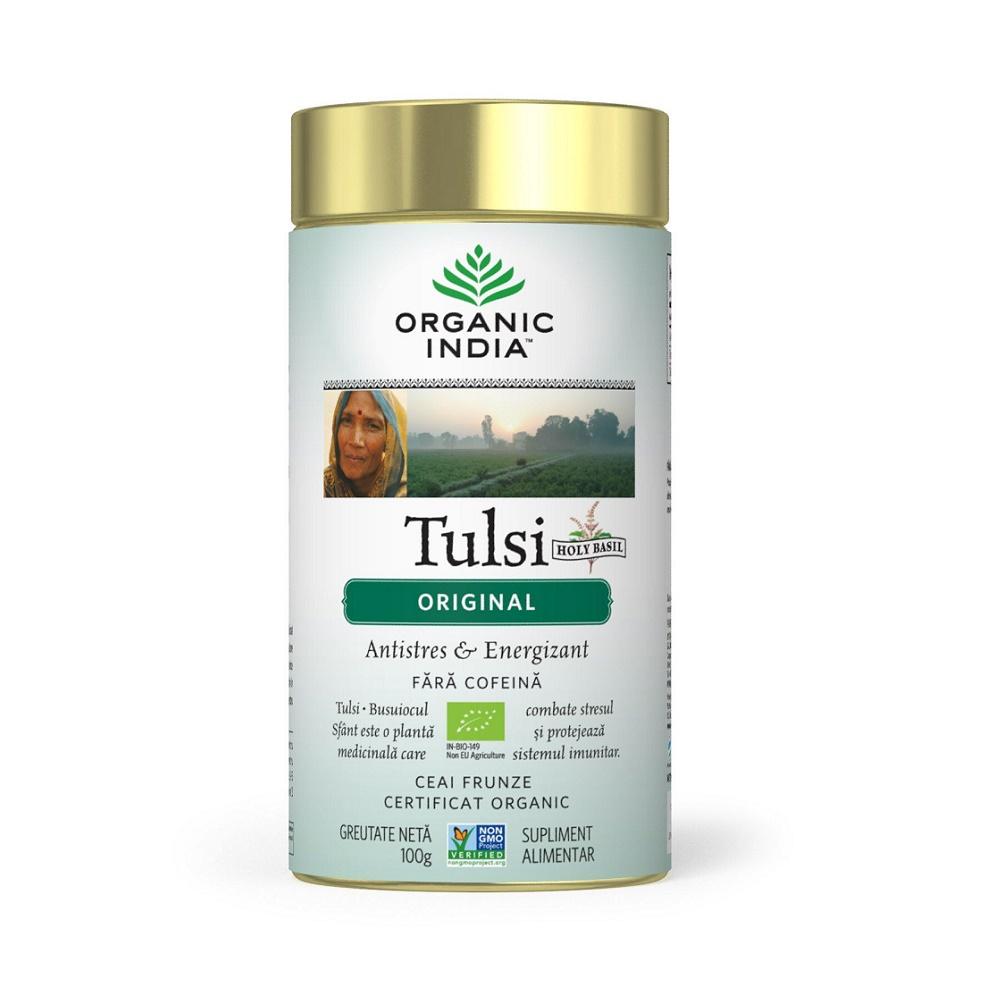 Tulsi Original Ceai, 100g, Organic India drmax.ro