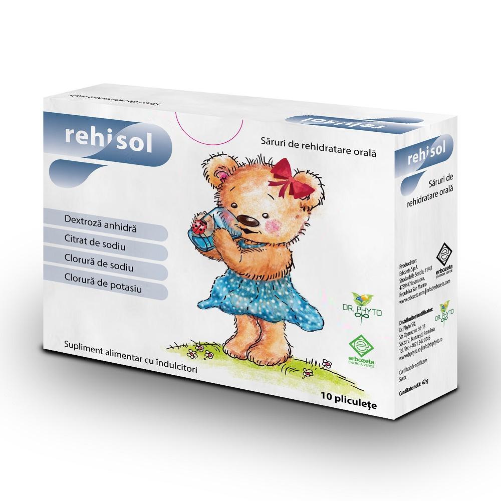Saruri de rehidratare Rehisol, 10 plicuri, Dr. Phyto drmax poza