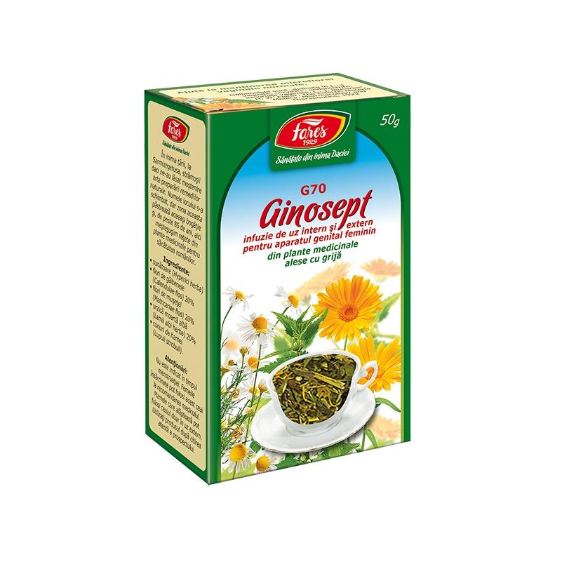 Ceai Ginosept, 50 g, Fares drmax.ro