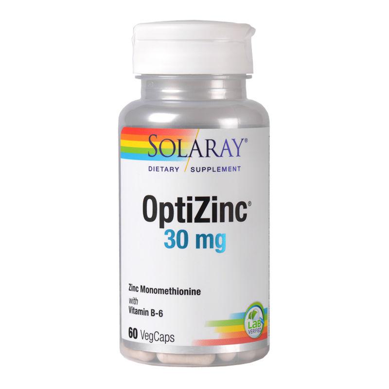 OptiZinc 30mg Solaray, 60 capsule, Secom imagine produs 2021