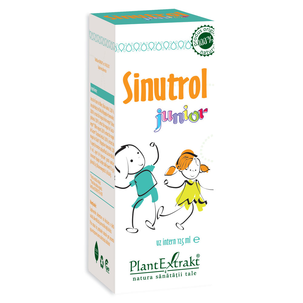 Sinutrol Junior sirop, 125ml, Plant Extrakt drmax.ro
