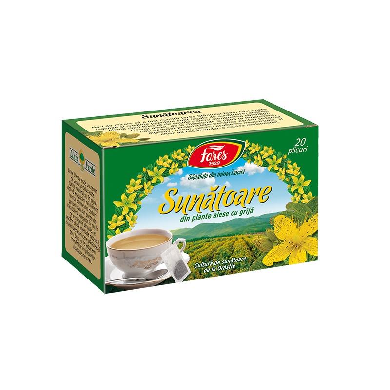 Ceai de Sunatoare, 20 plicuri, Fares drmax.ro