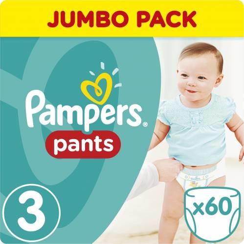 Scutece-chilotel Pants marimea 3 pentru 4-9kg, 60 bucati, Pampers