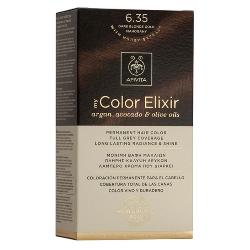 Vopsea My Color Elixir, N6.35, Apivita drmax.ro
