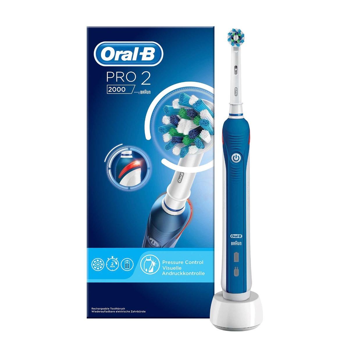 Periuta de dinti electrica PRO 2000 Cross Action, 1 bucata, Oral-B imagine drmax.ro