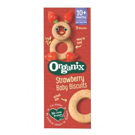 Biscuiti Bio cu capsuni FingerFoods, +10 luni, 54g, Organix