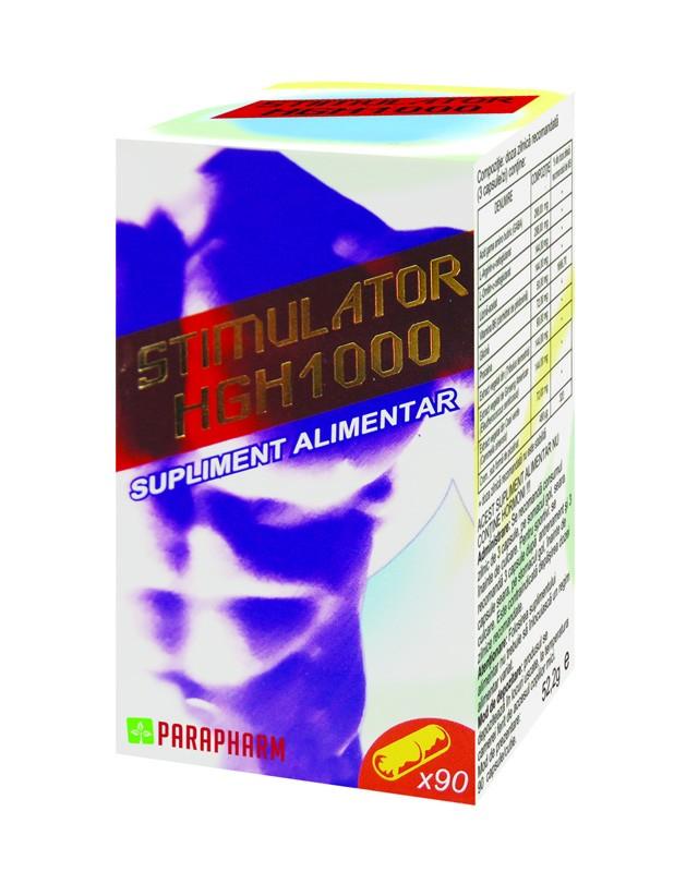 Stimulator HGH 1000, 90 capsule, Parapharm drmax poza