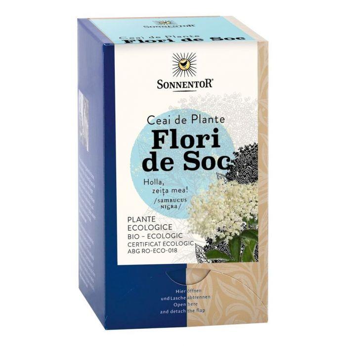 Ceai Bio Flori de Soc (Sambucus), 18 plicuri, Sonnentor drmax poza