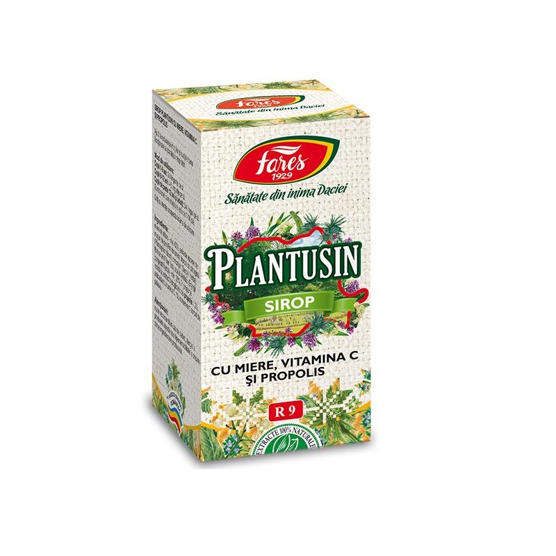 Sirop Plantusin cu miere, vitamina C si propolis, 100 ml, Fares drmax.ro