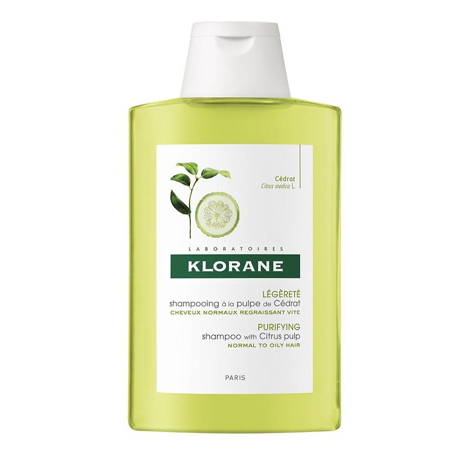 Sampon cu pulpa de citrice pentru par normal, 200 ml, Klorane imagine produs 2021