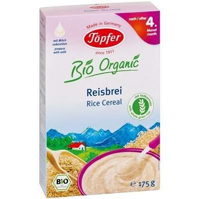 Cereale Bio cu orez integral de la 4 luni, 175g, Topfer