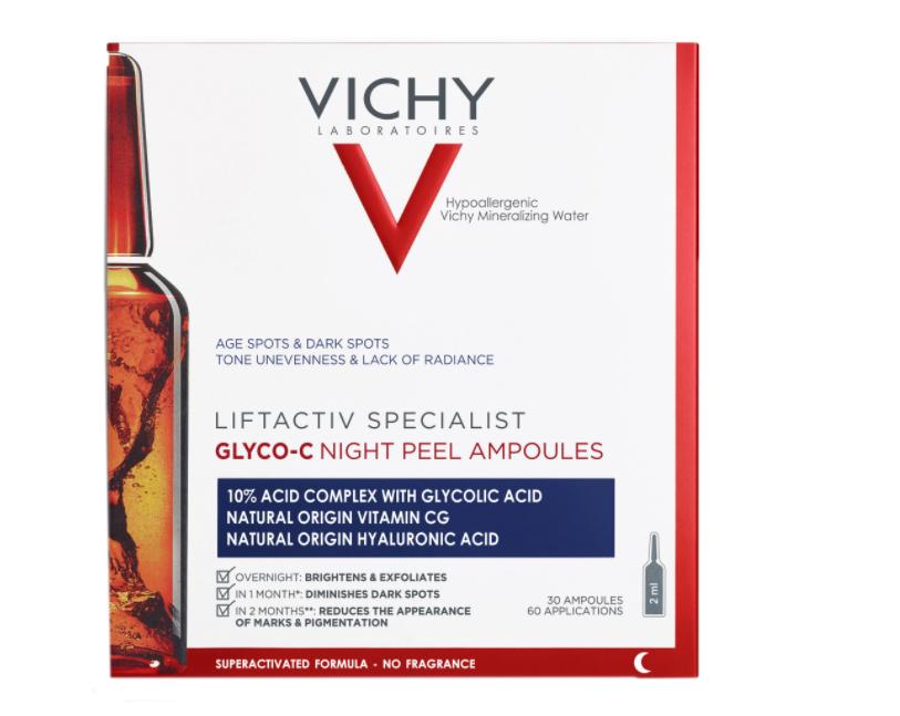 Fiole pentru exfoliere nocturna Liftactiv Specialist Glyco-C, 30 fiole, Vichy