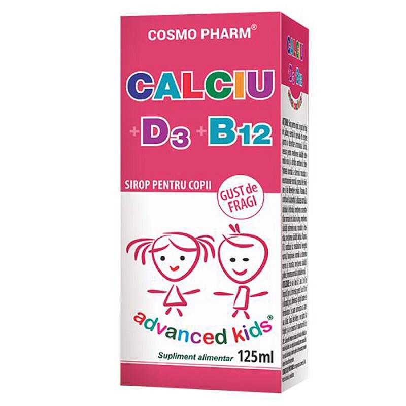 Sirop Calciu + D3 + B12, 125 ml, Cosmopharm drmax.ro