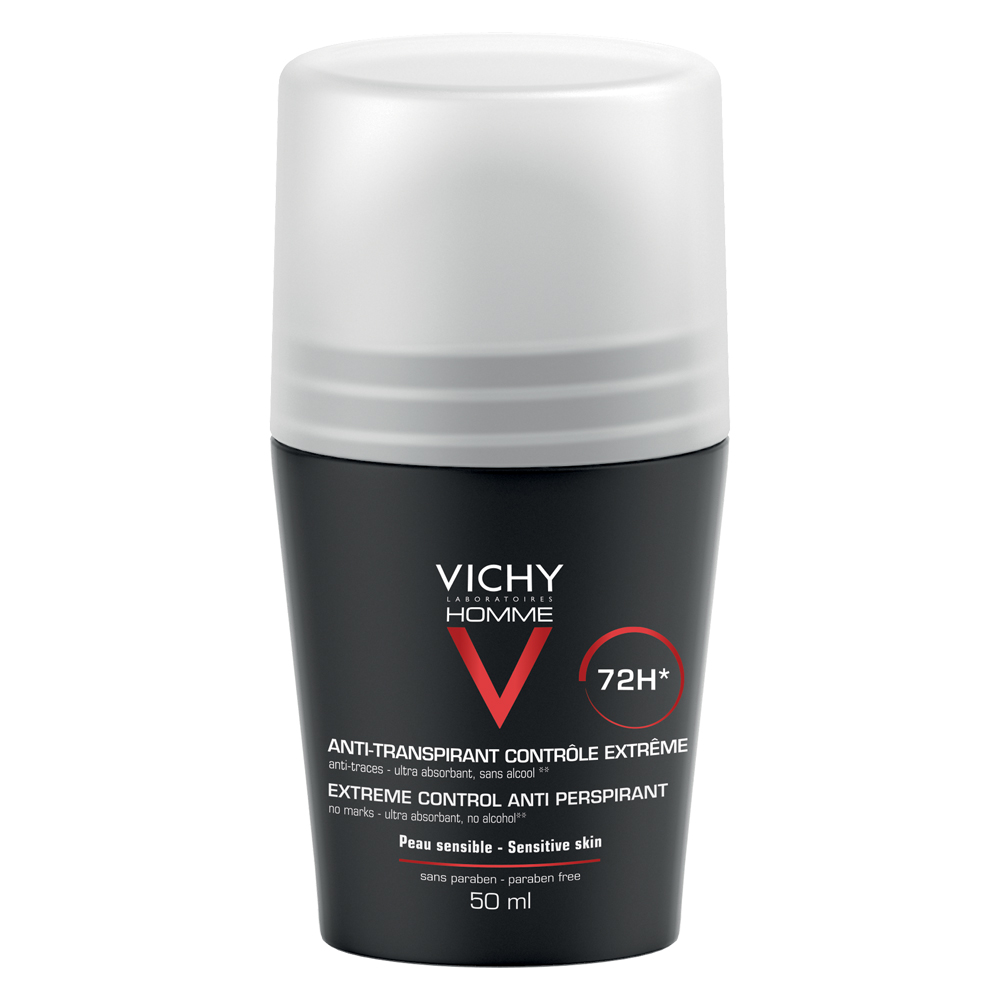 Deodorant roll-on control extrem 72 h Homme, 50 ml, Vichy drmax.ro