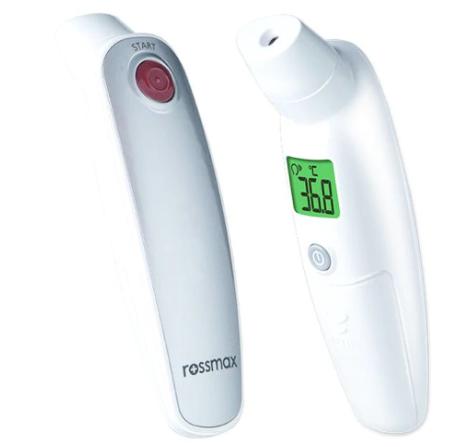 Termometru cu infrarosu fara contact HA500, 1 bucata, Rossmax drmax.ro