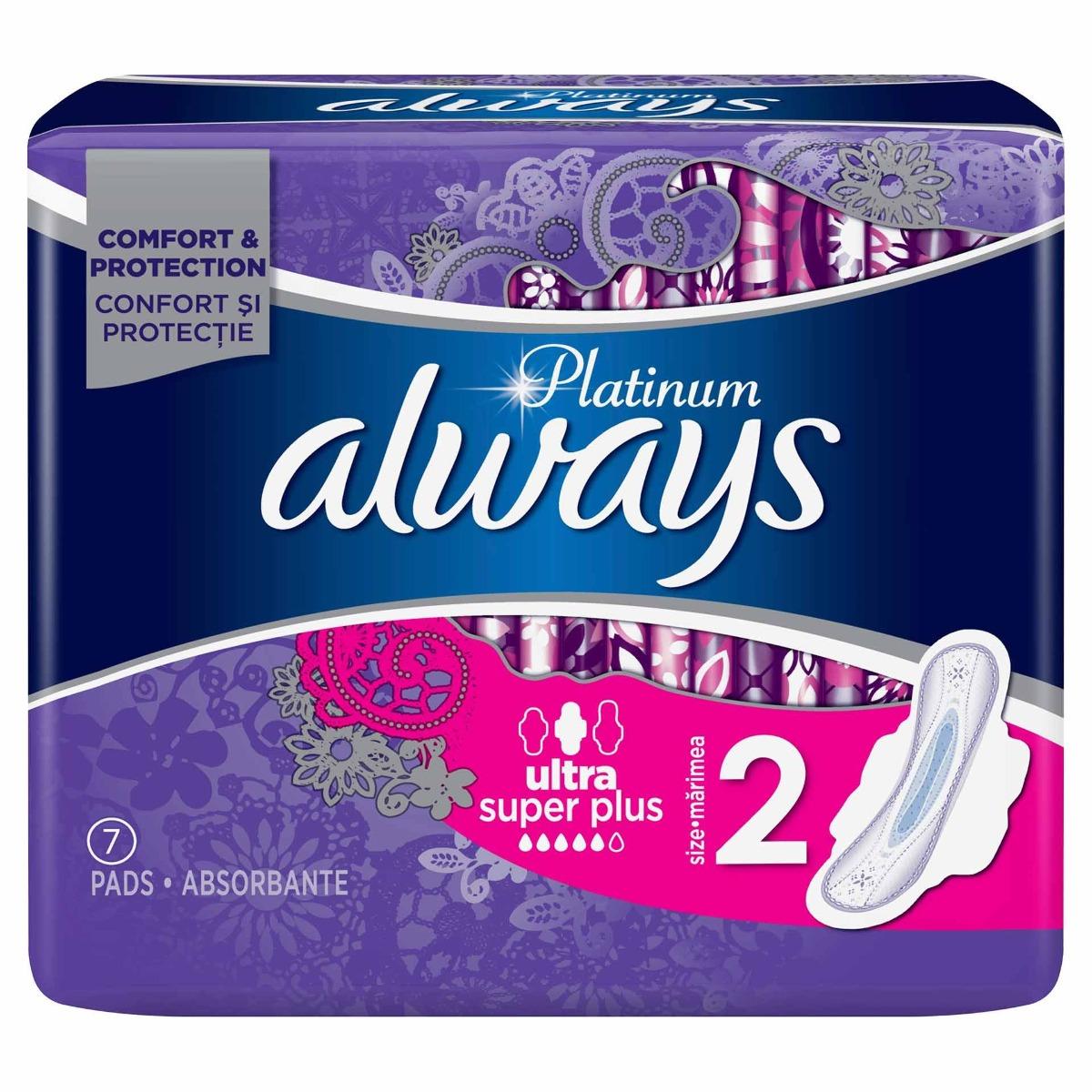 Absorbante Platinum Super - marimea 2, 7 bucati, Always imagine produs 2021