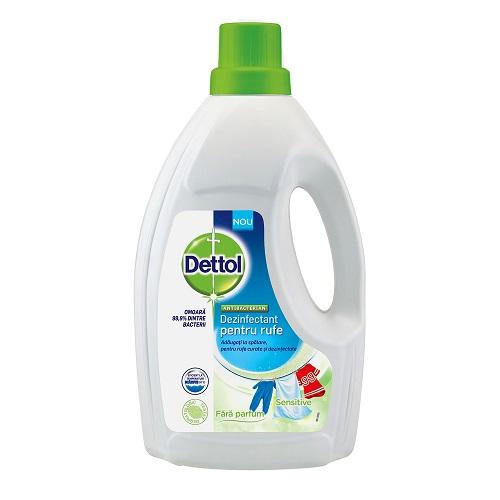 Dezinfectant pentru rufe Sensitive, 1.5L, Dettol drmax.ro