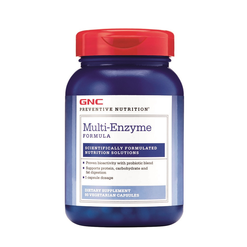 Preventive Nutrition Formula Multi-Enzime, 90 capsule, GNC imagine produs 2021