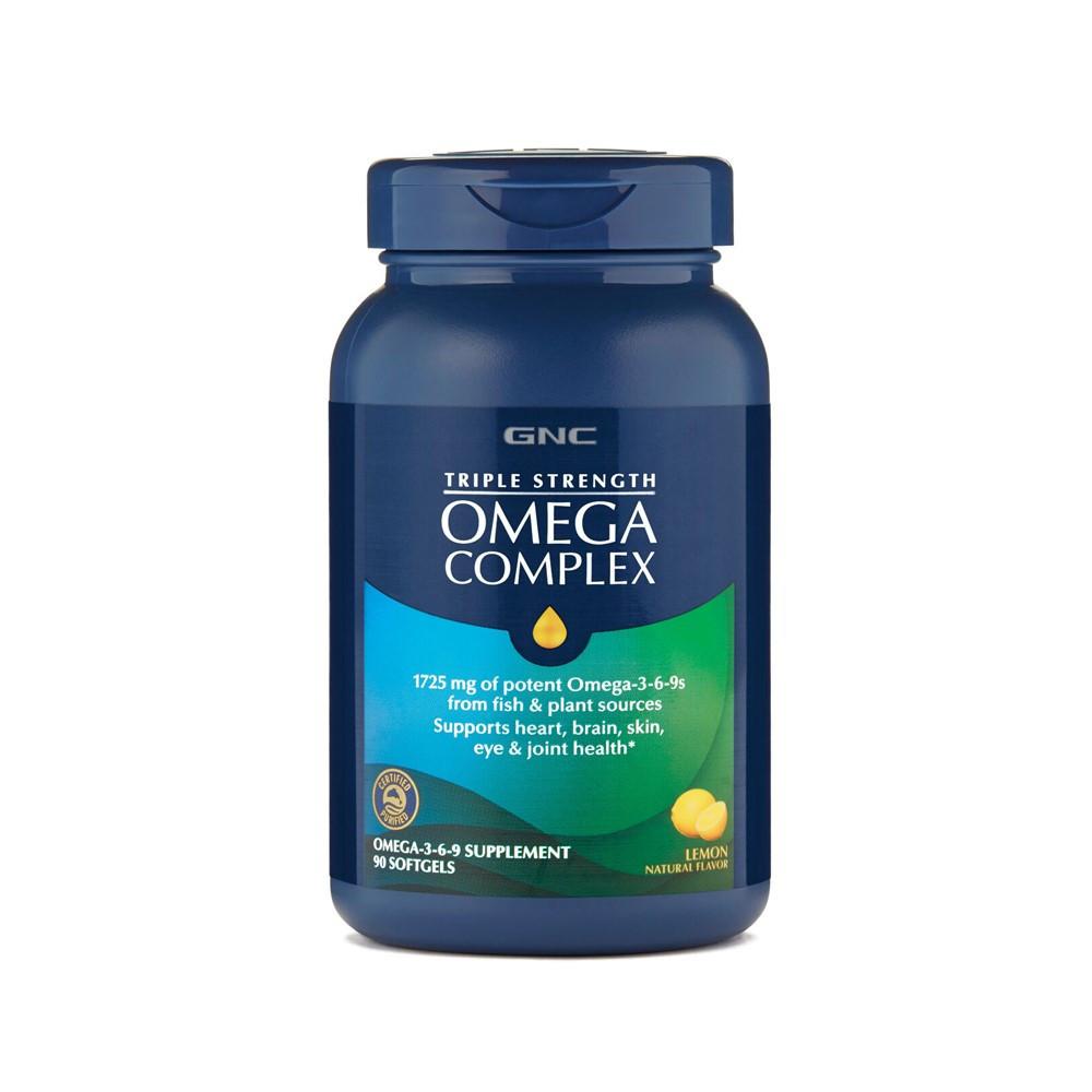 Ulei de peste Omega Complex Triple Strength, 90 capsule, GNC drmax poza
