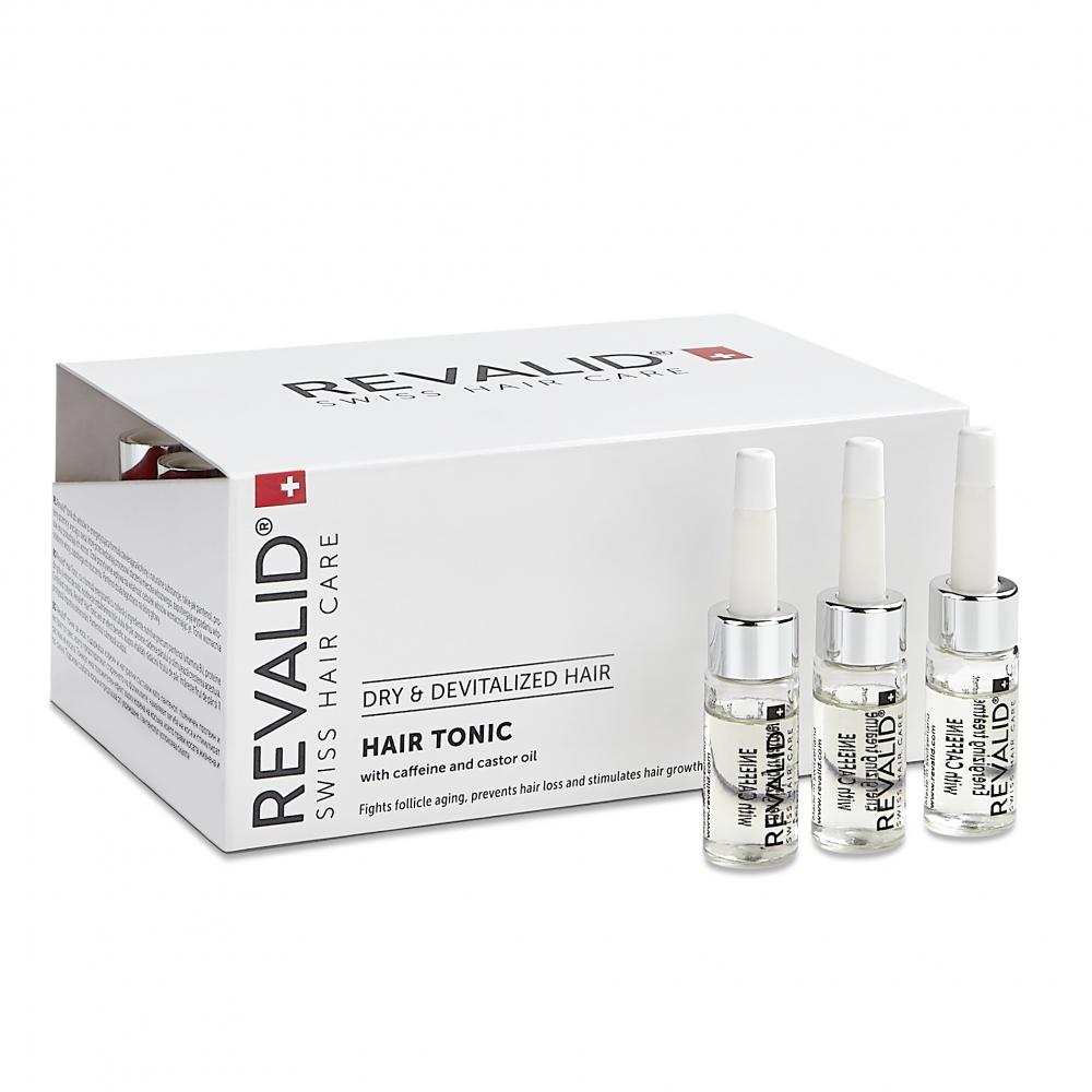 Lotiune activa și energizanta cu cofeina și extracte naturale pentru par Revalid Tonic, 20 fiole drmax.ro