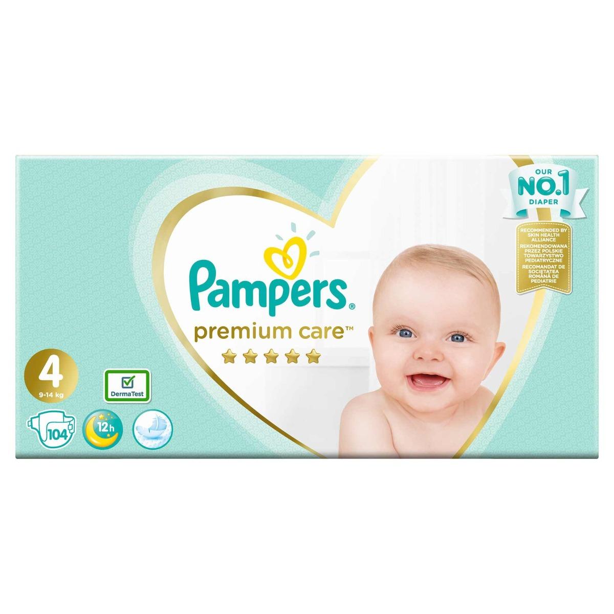 Scutece Premium Care 4, 104bucati, Pampers drmax.ro