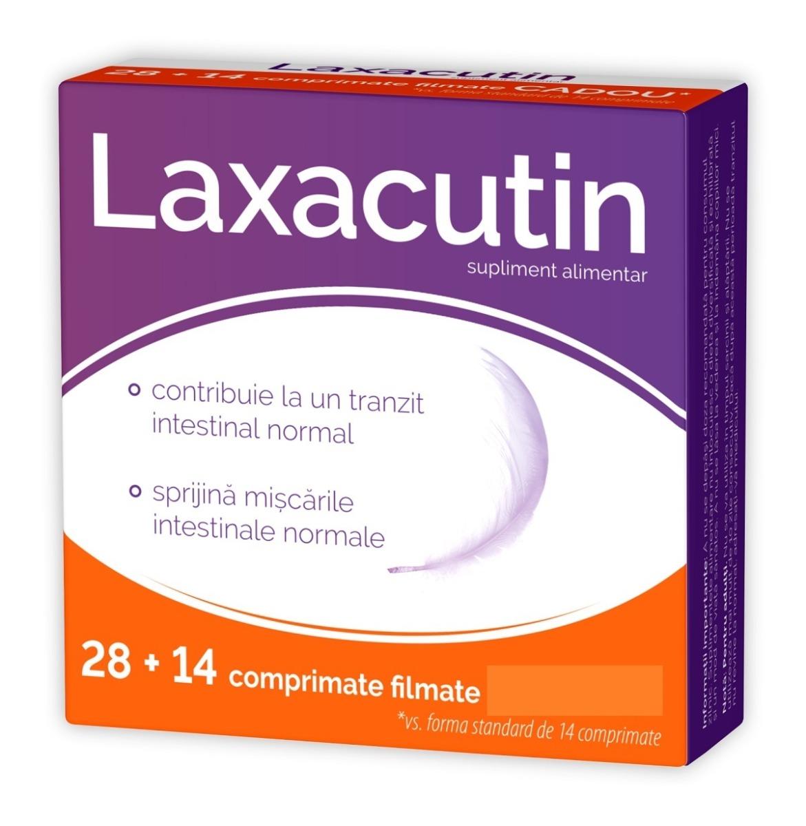 Laxacutin, 28+14 comprimate, Zdrovit imagine produs 2021