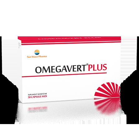 Omegavert Plus, 30 capsule, Sunwave drmax poza