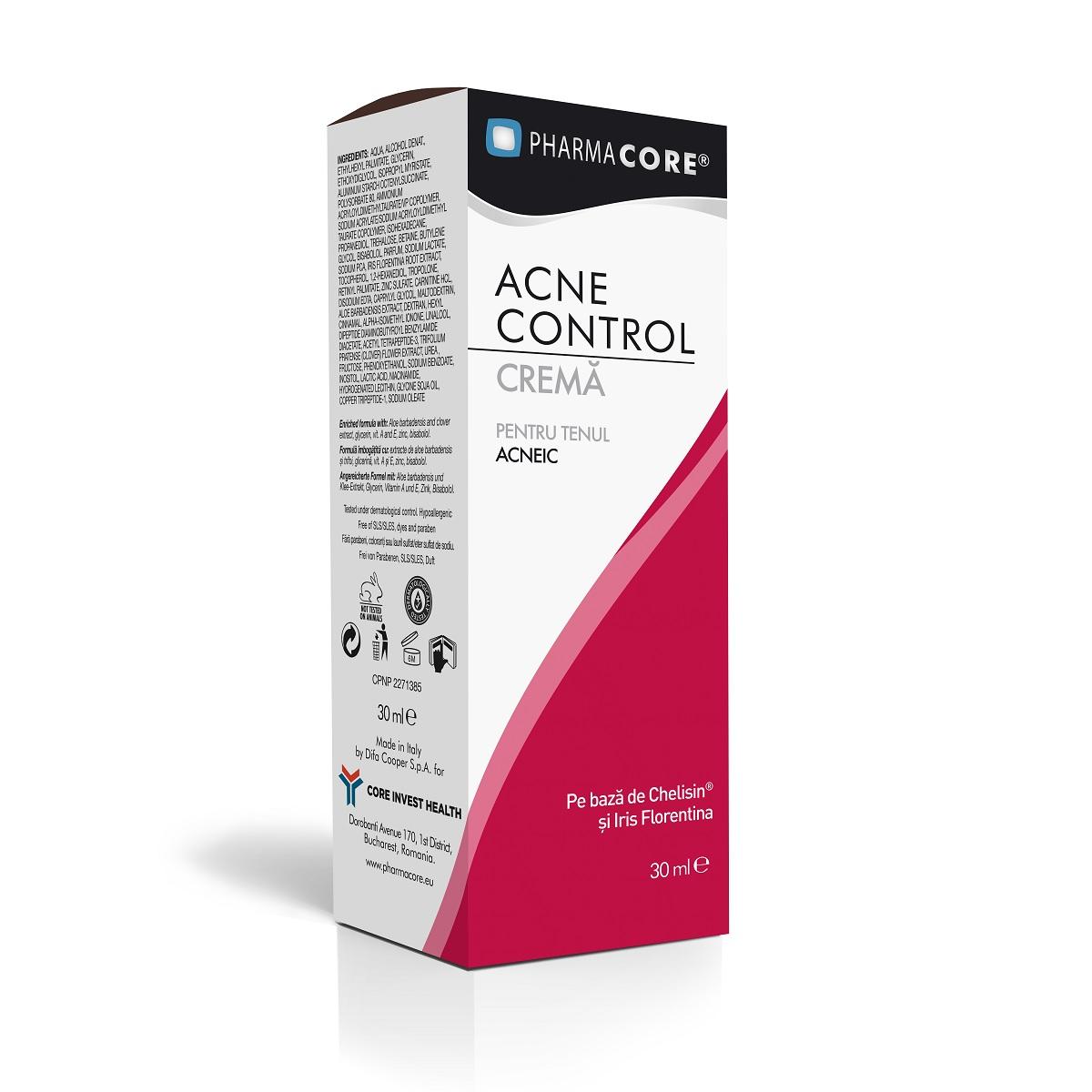 Crema tratament Acne Control, 30ml, Pharmacore drmax.ro