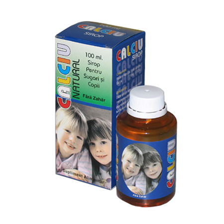 Sirop Calciu pentru sugari si copii, 150 ml, Natural Pharmaceuticals imagine produs 2021