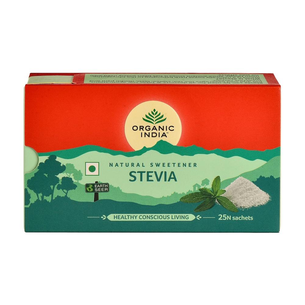 Indulcitor Natural Stevie Hipocaloric, 25 plicuri, Organic India