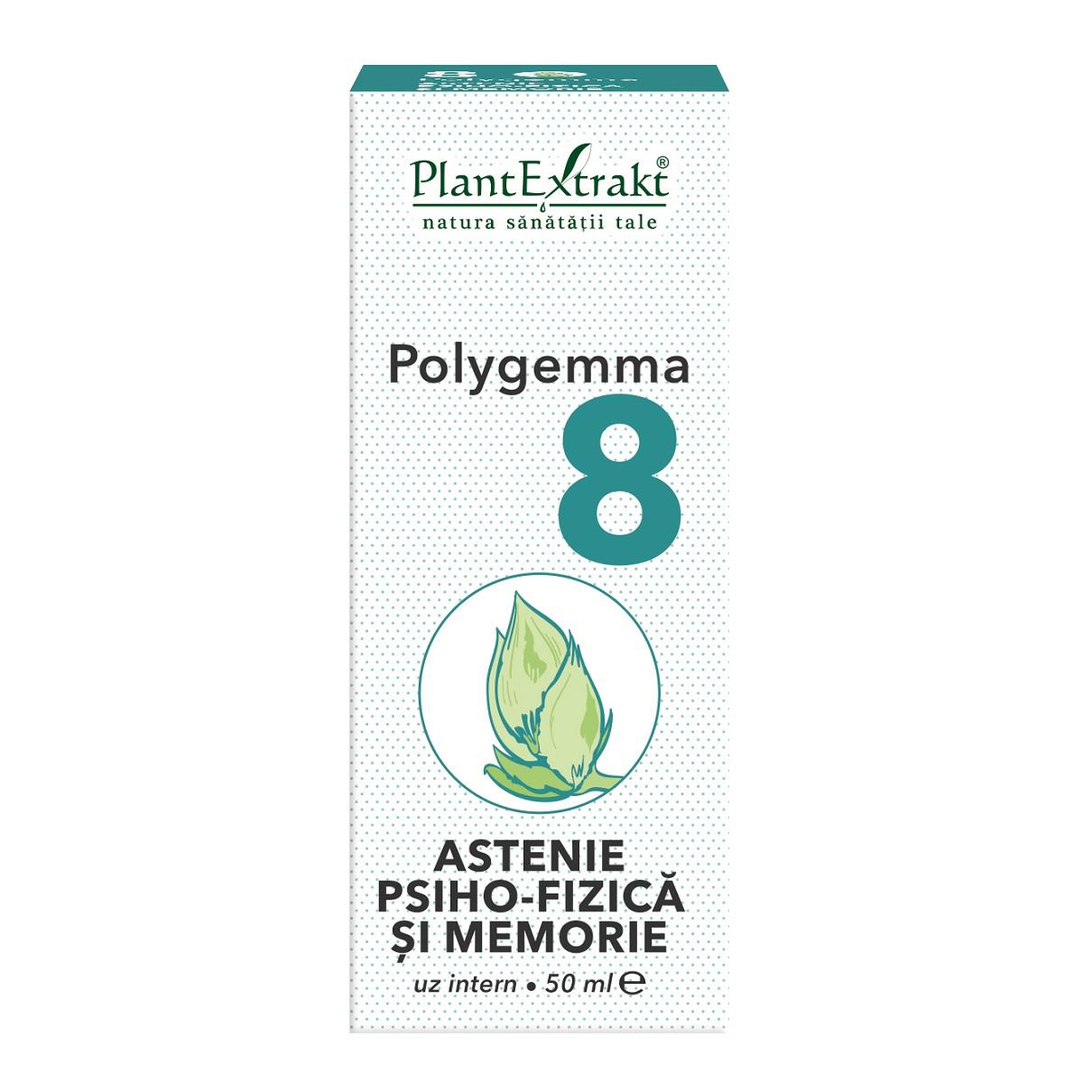 Polygemma 8 Astenie psiho-fizica si memorie, 50ml, Plant Extrakt drmax.ro