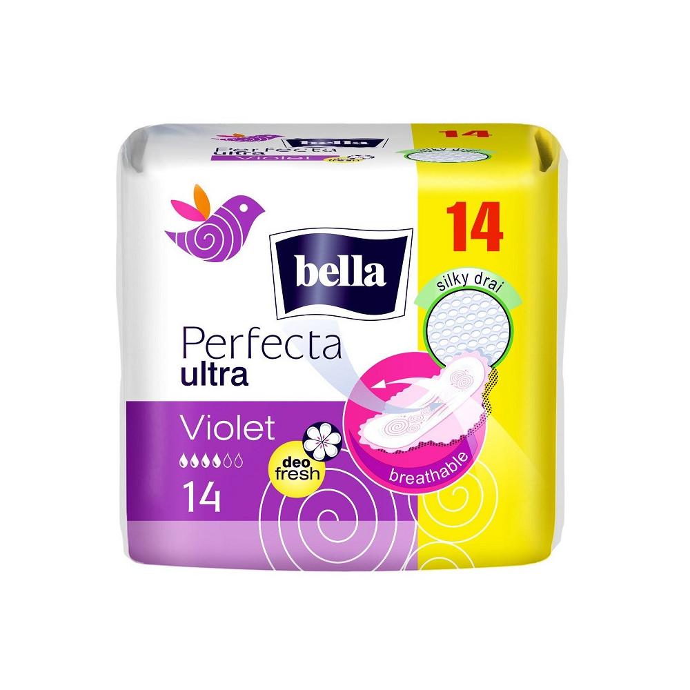 Absorbante Perfecta Ultra Violet, 14 bucati, Bella drmax.ro