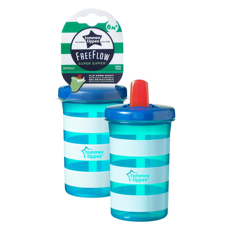 Cana albastra Super Sipper 6 luni+, 300ml, Tommee Tippee drmax.ro