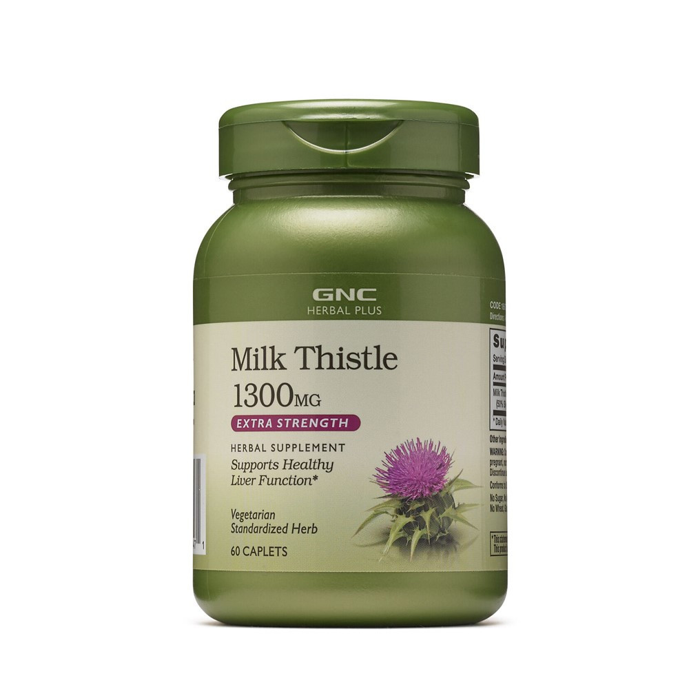 Silimarina 1300 mg Herbal Plus, 60 tablete, GNC imagine produs 2021