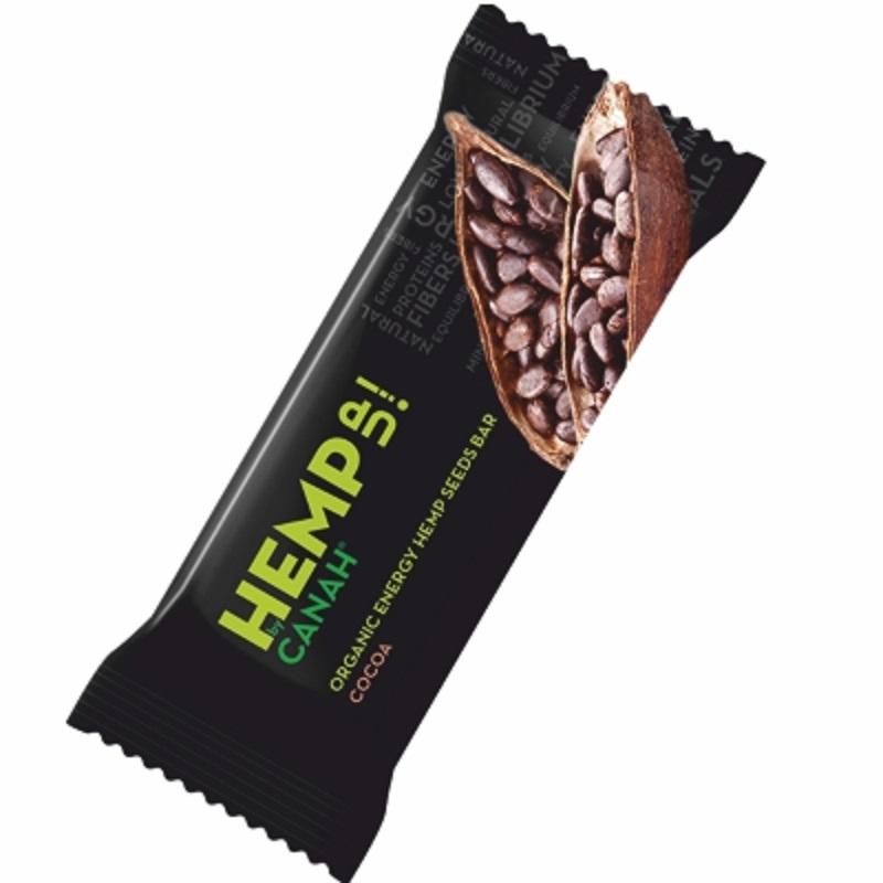 Baton cu seminte de canepa si cacao ECO, 48g, Canah drmax.ro